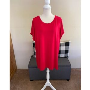 ModCloth Sunny Girl Red Tunic Top Size 2X